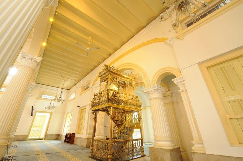 De Moskee van Abu Bakar van de sultan stock afbeeldingen