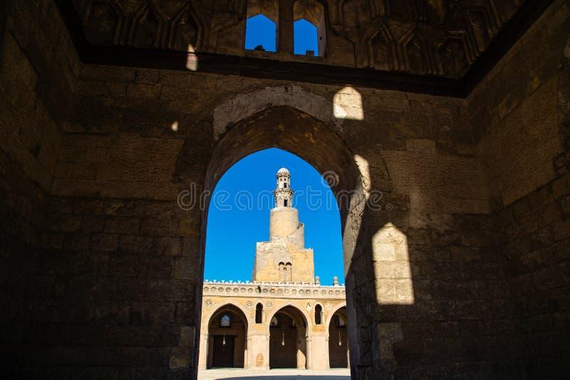 De moskee van Ahmad Ibn Tulun stock foto