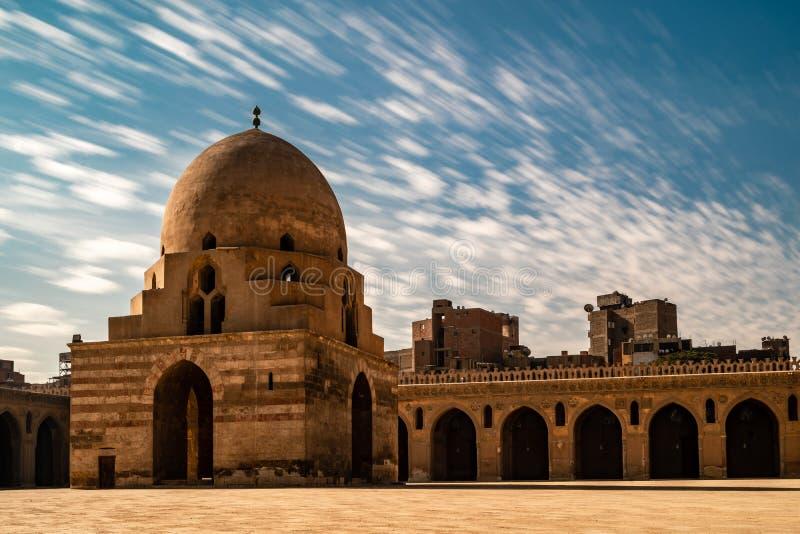 De moskee van Ahmad Ibn Tulun stock fotografie