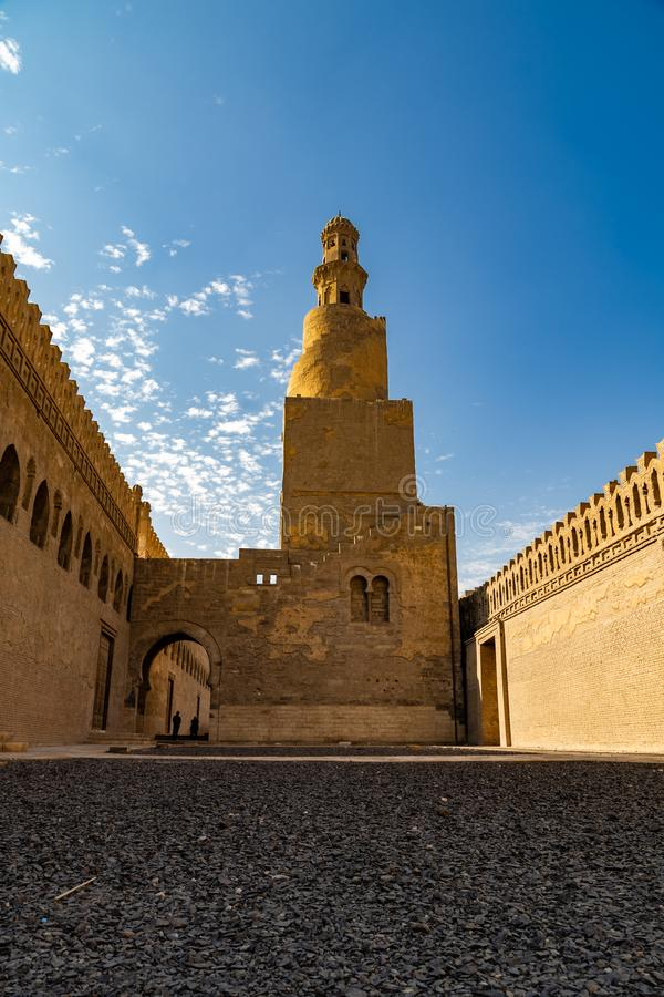 De moskee van Ahmad Ibn Tulun royalty-vrije stock afbeelding