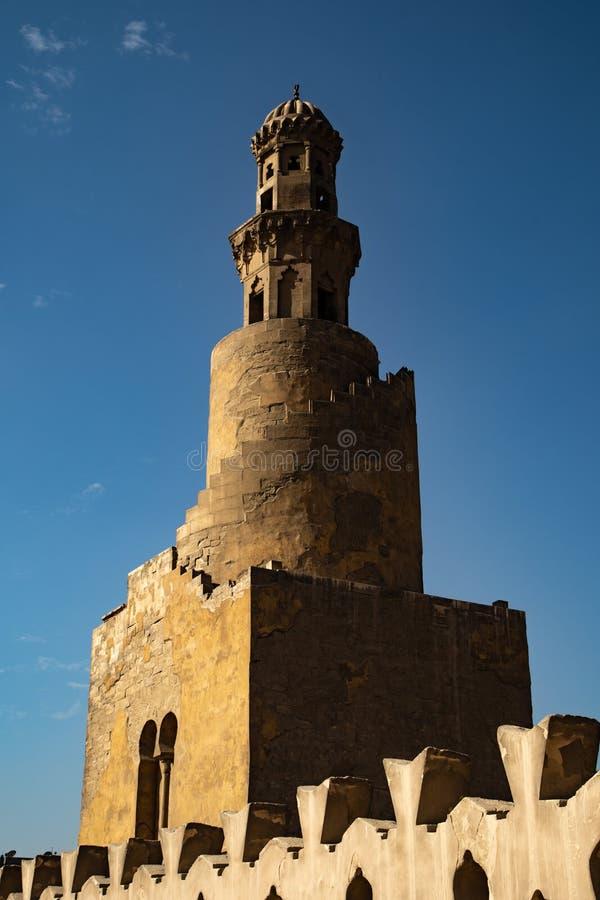 De moskee van Ahmad Ibn Tulun stock afbeeldingen