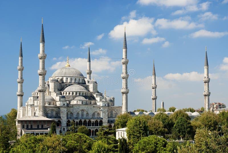 De moskee van Ahmed van de sultan in Istanboel Turkije stock fotografie
