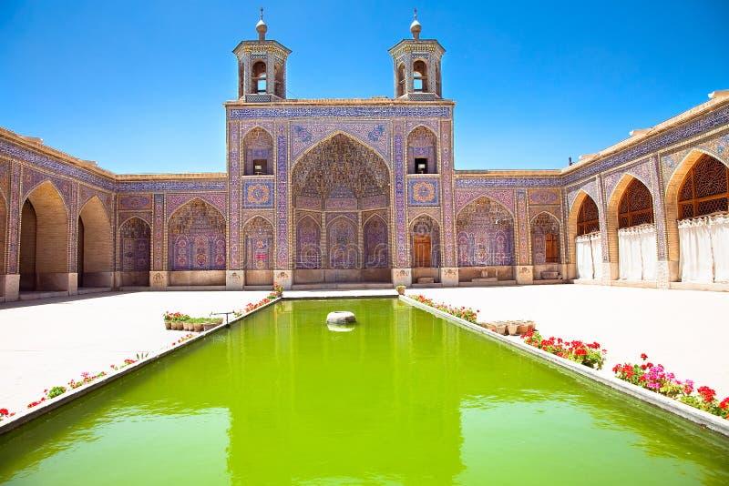 De Moskee van al-Mulk van Nasir, de Moskee van Nasir al-Molk, Iran royalty-vrije stock foto