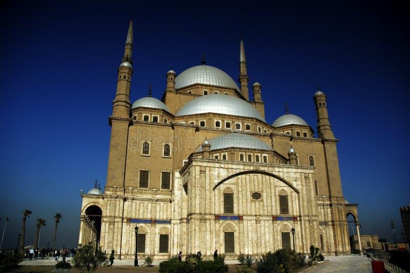 De moskee van al-Nasir Muhammad bij de Citadel in Kaïro stock afbeeldingen