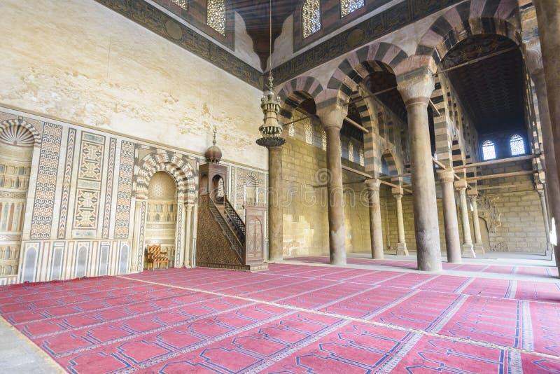 De moskee van Al-Nasir Muhammad, Citadel van Kaïro royalty-vrije stock afbeelding