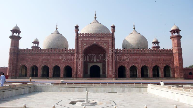 De Moskee van Badshahi stock foto's