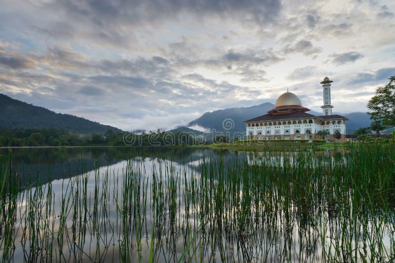 De moskee van Darulquran in Selangor stock fotografie