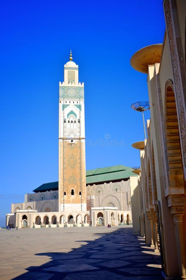 De moskee van de koningshassan van Casablanca stock foto's