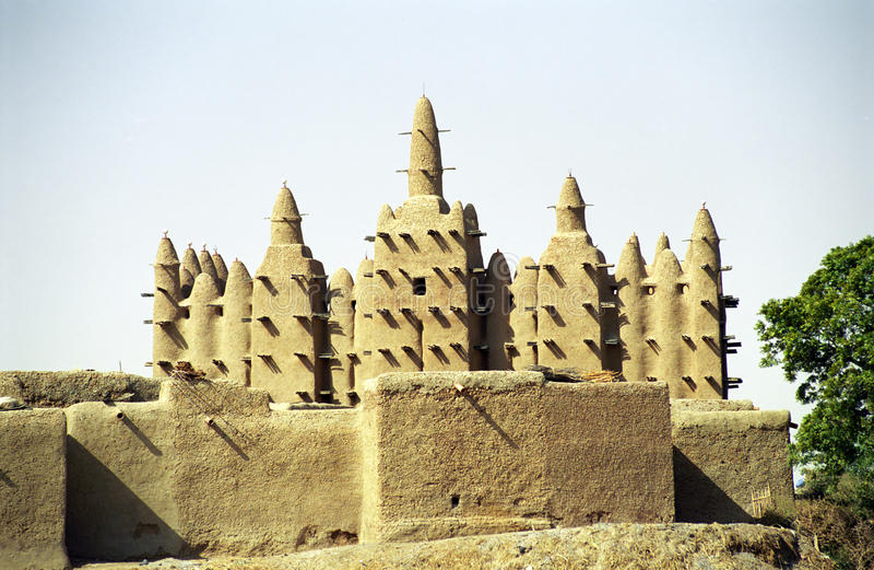 De moskee van de modder, Sirimou, Mali royalty-vrije stock fotografie