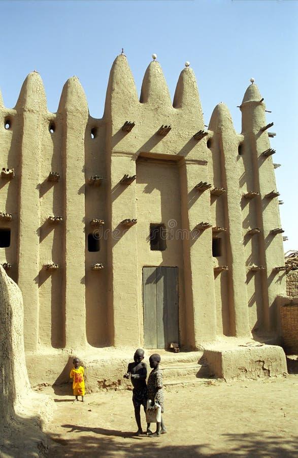 De moskee van de modder, Sirimou, Mali royalty-vrije stock foto's