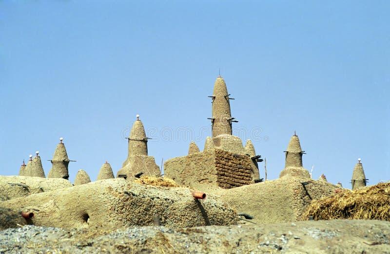 De moskee van de modder, Sirimou, Mali royalty-vrije stock afbeeldingen