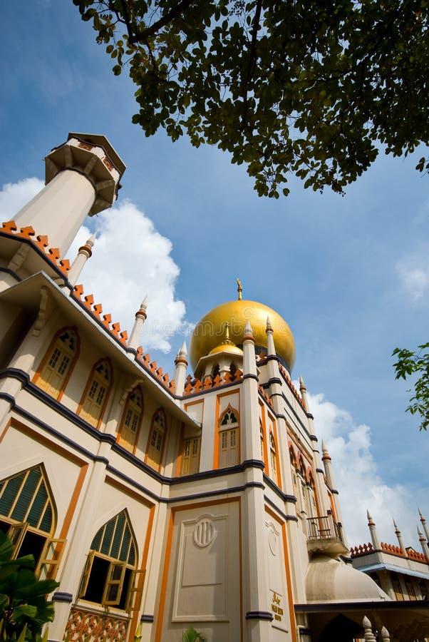 De moskee van de sultan stock afbeelding
