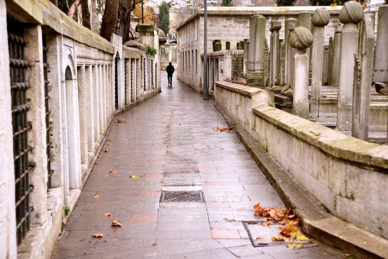 De moskee van de Sultan Istanboel - Eyup, Moslimbegraafplaats, Turkije stock fotografie