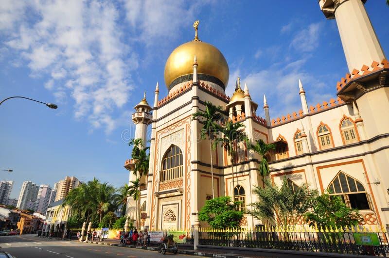 De Moskee van de sultan, Singapore stock afbeelding