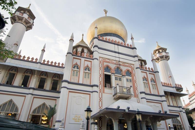 De Moskee van de Sultan van Masjid in Singapore royalty-vrije stock afbeelding