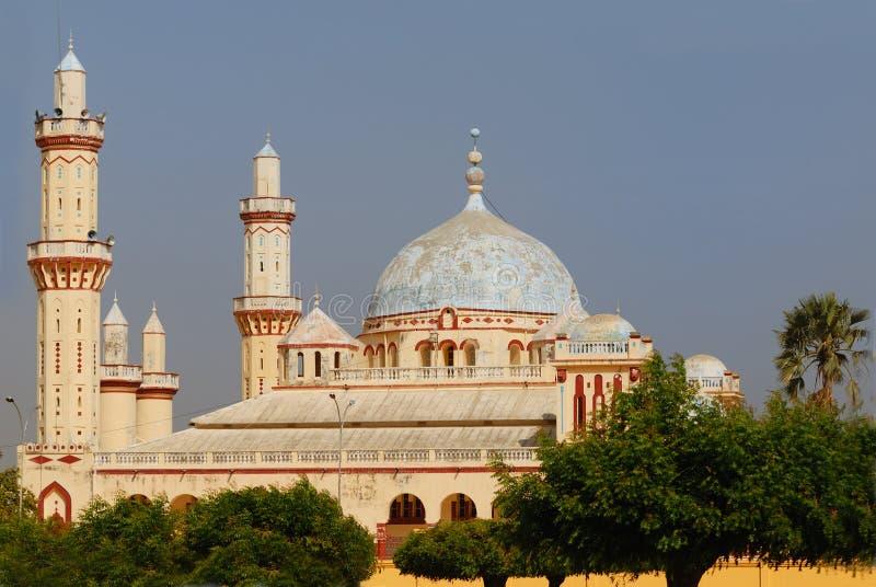 De moskee van Djourbel, Senegal stock afbeelding