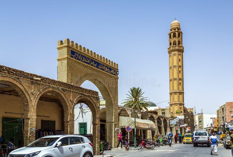 De Moskee van Gr-Ferdous Tozeur Tunesië stock afbeelding