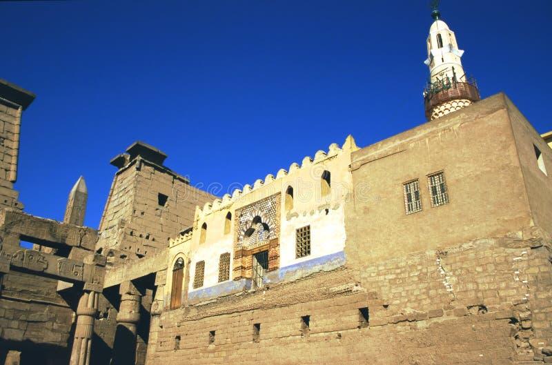 De Moskee van Haggag van Abu, Luxor stock afbeelding