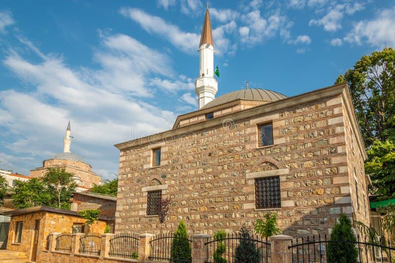 De moskee van Isa Bey en Mustafa Pasha- stock afbeeldingen