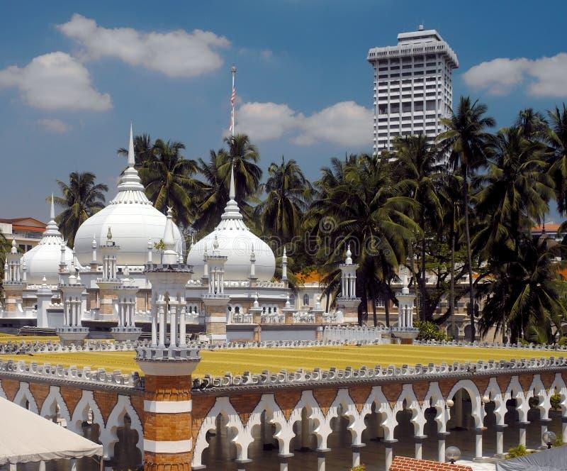 De Moskee van Jamek van Masjid in Kuala Lumpur stock fotografie