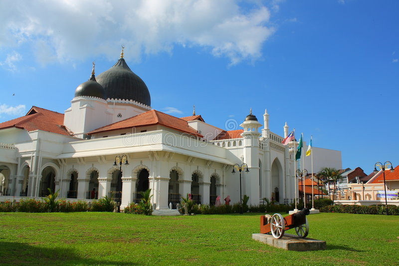 De Moskee van Keling van Kapitan stock foto