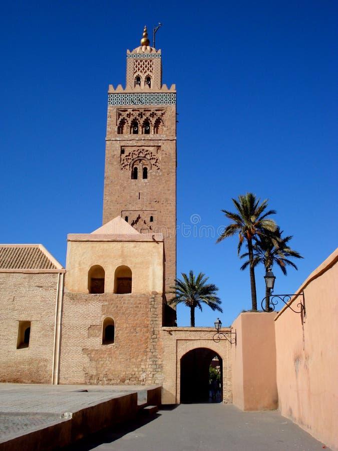 De Moskee van Koutoubia, Marrakech stock foto