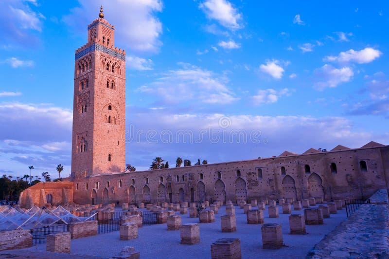 De moskee van Koutubia in Marakesh stock foto's