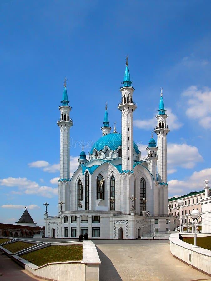 De moskee van Kul Sharif van Kazan stad in Rusland royalty-vrije stock afbeelding