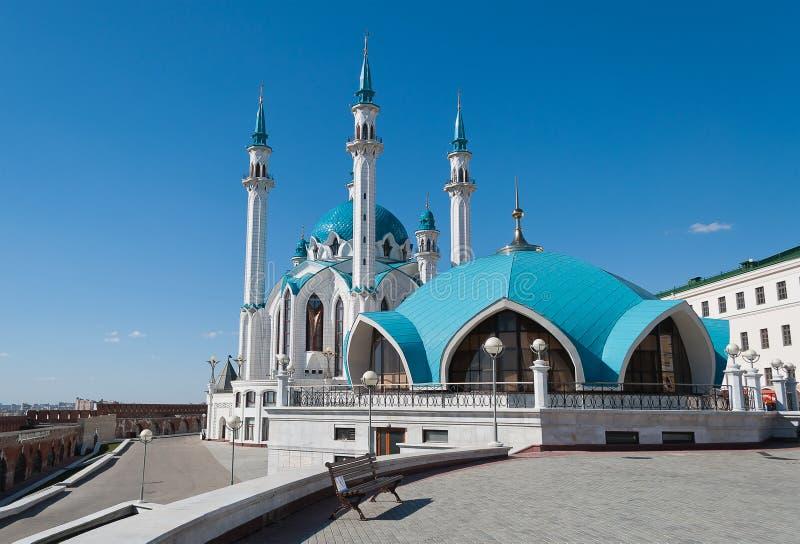 De moskee van Kulsharif in het Kremlin. Kazan. Rusland. stock fotografie