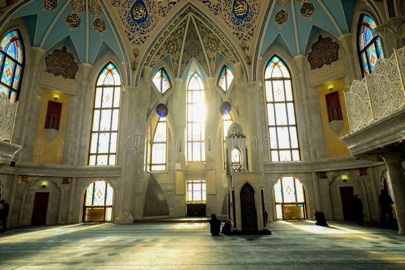 De moskee van Kulsharif in Kazan Rusland tijdens de winter royalty-vrije stock afbeeldingen