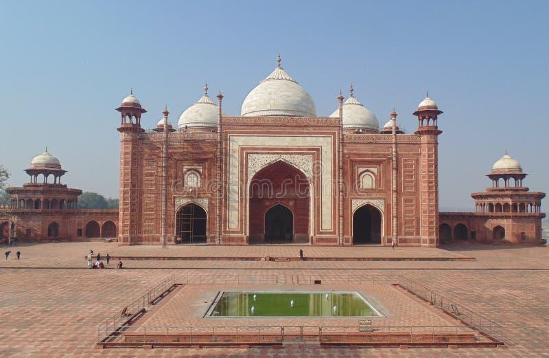 De moskee van Mahal van Taj in Agra, India stock fotografie