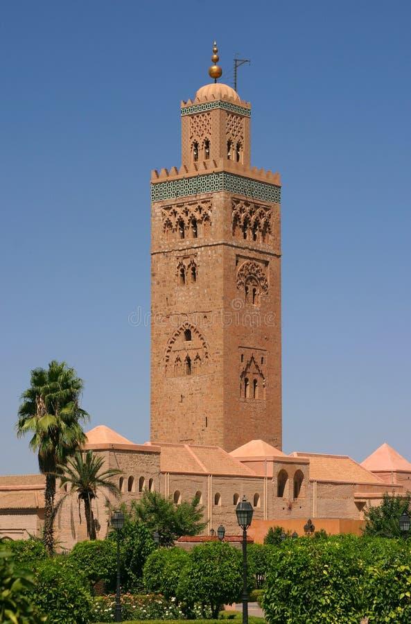 De Moskee van Marokko Marrakech Koutoubia stock foto's