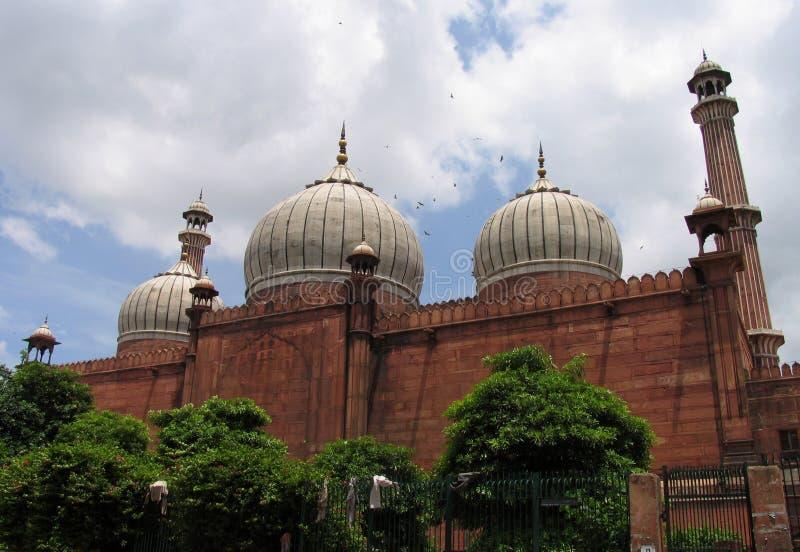 De Moskee van Masjid van Jama, Delhi, India stock afbeelding