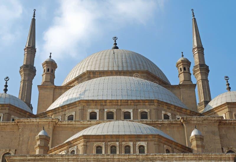 De moskee van Mohammed Ali, Kaïro, Egypte royalty-vrije stock afbeelding
