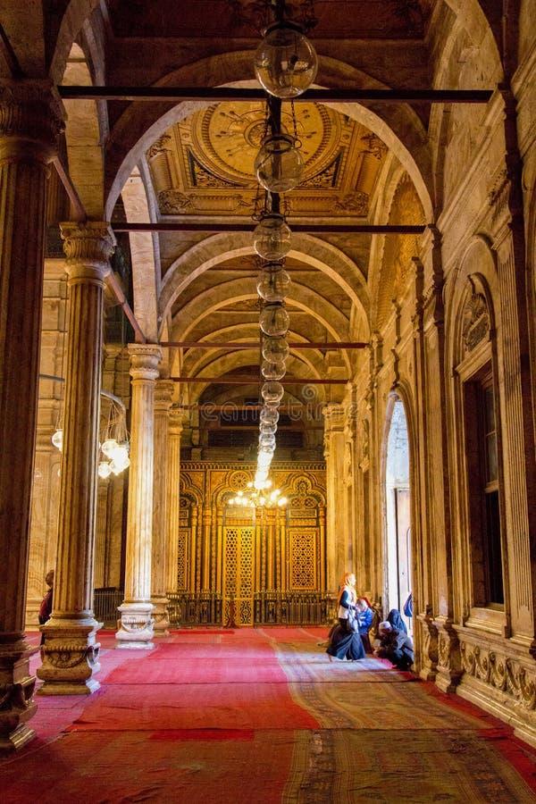 De moskee van Muhammad ali in Egypte stock foto