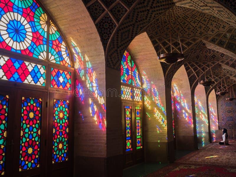 De Moskee van Nasir ol Molk, Shiraz, Iran royalty-vrije stock afbeeldingen