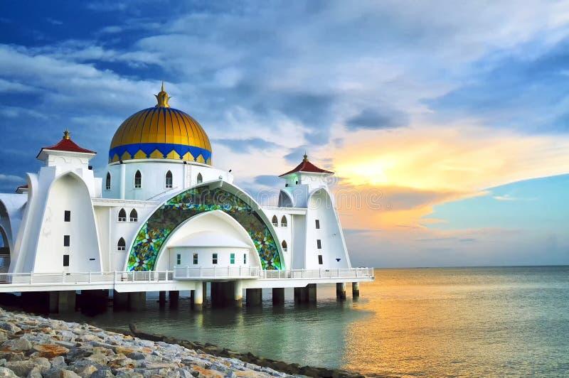 De Moskee van Selat van Masjid stock foto's