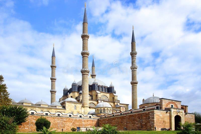 De Moskee van Selimiye, Edirne stock foto