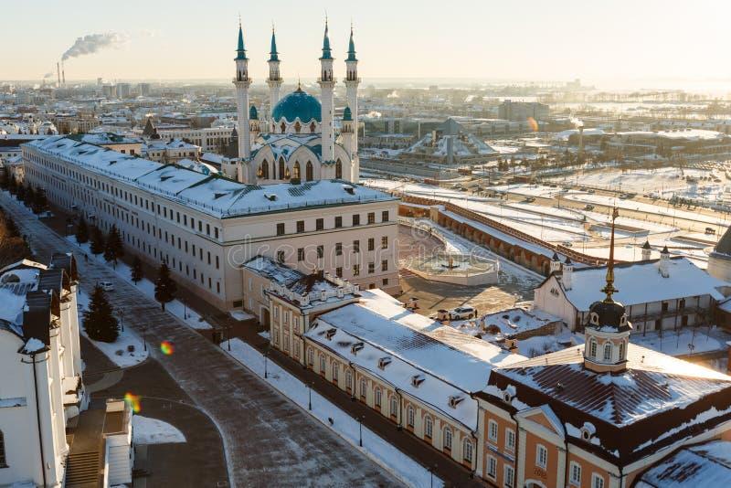 De moskee van Sharif van Kul Kazan stad, stock foto's