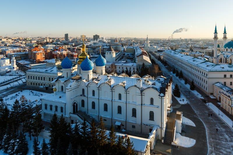 De moskee van Sharif van Kul Kazan stad, stock afbeeldingen