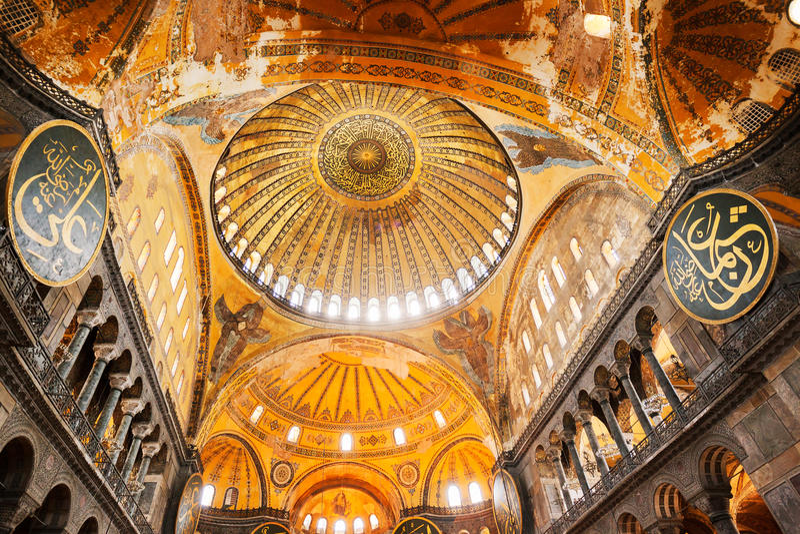De Moskee van Sofia van Hagia stock foto