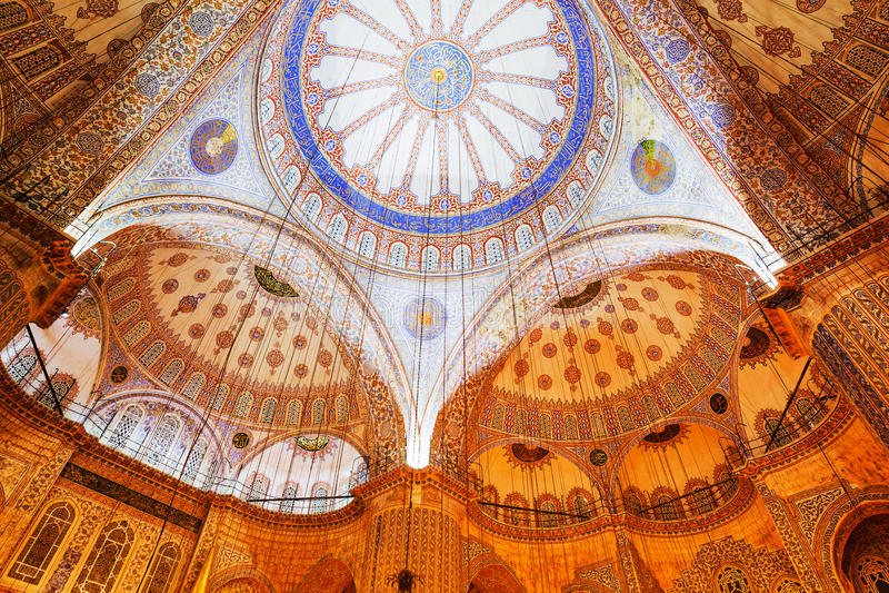 De Moskee van Sofia van Hagia royalty-vrije stock foto