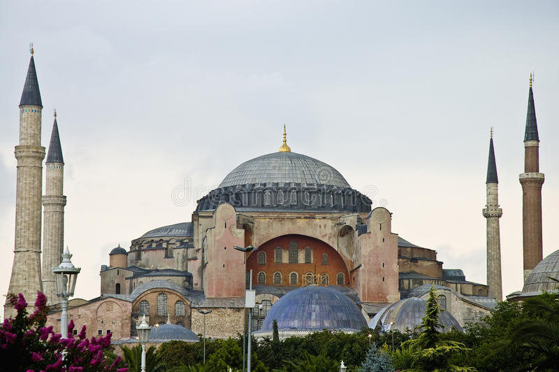De Moskee van Sofia van Hagia in Istanboel royalty-vrije stock afbeelding
