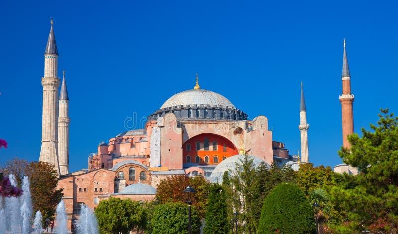 De moskee van Sophia van Hagia stock foto's