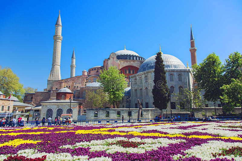 De Moskee van Sophia van Hagia in Istanboel stock afbeelding
