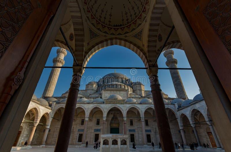 De Moskee van Suleymaniye royalty-vrije stock fotografie