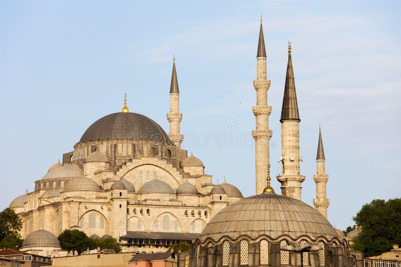 De Moskee van Suleymaniye in Istanboel royalty-vrije stock afbeeldingen