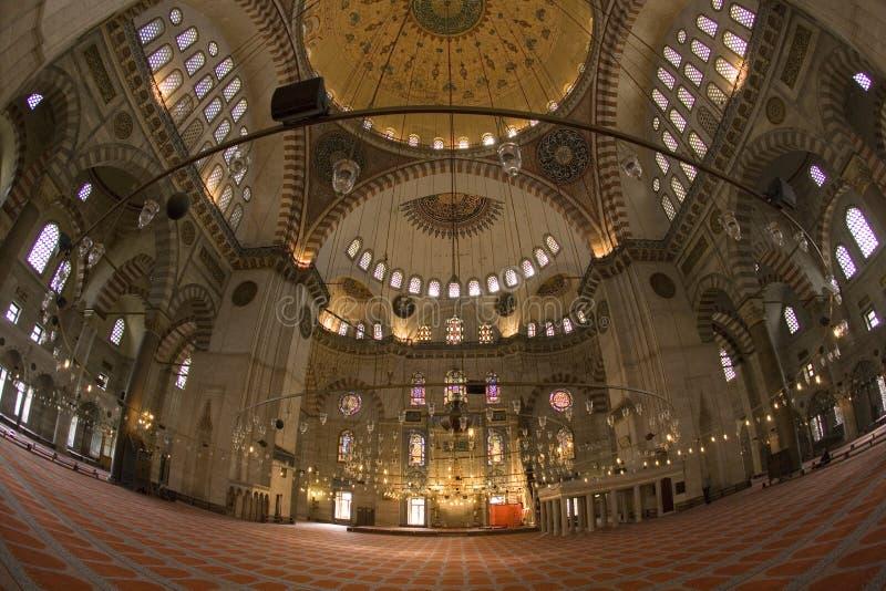 De Moskee van Suleymaniye - Istanboel - Turkije royalty-vrije stock afbeeldingen