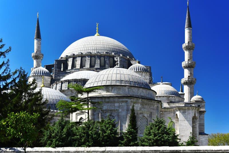 De moskee van Suleymaniye in Istanboel, Turkije stock foto