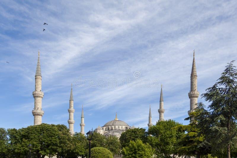 De Moskee van Sultanahmet stock fotografie